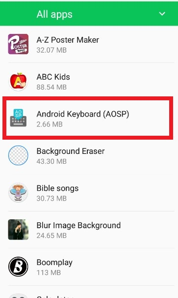 android keyboard typing wrong letters